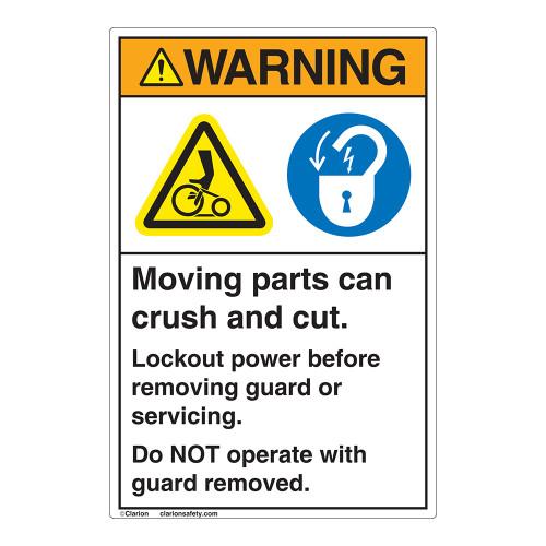 Warning Moving Parts Label (EMC 24)