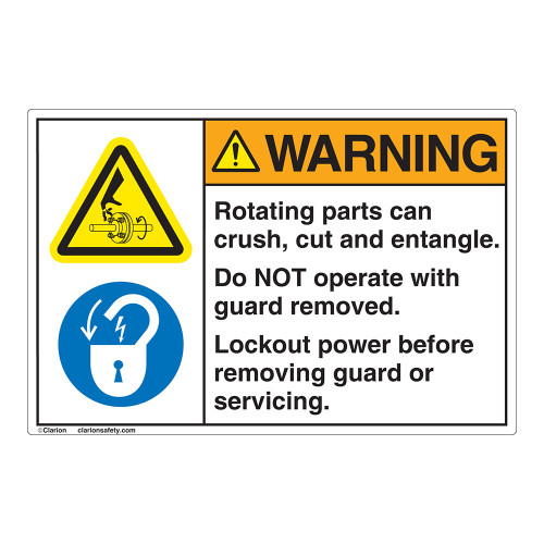 Warning Rotating Parts Label (EMC 25)