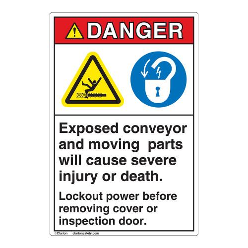 Danger Exposed Moving Parts Label (EMC 27)
