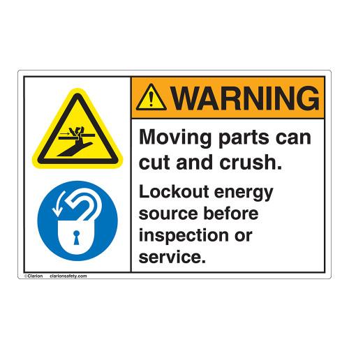 Warning/Moving Parts Label (EMC 30 ) )