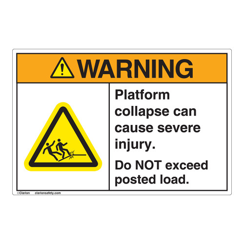 Warning/Platform Collapse Label (EMC 31 )