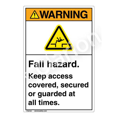 Warning/Fall Hazard Label (EMC 35 )