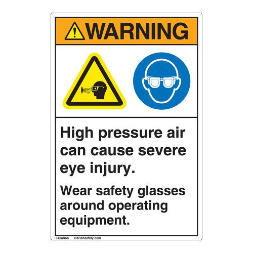 Warning/High Pressure Air Label (EMC 36 )