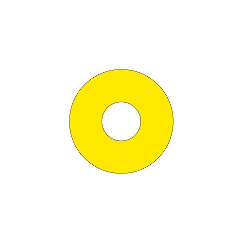 Emergency Stop (60mm Circle w/22.5mm Hole) Label (ES60-22.5B)