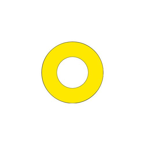Emergency Stop (60mm Circle w/30.6mm Hole) Label (ES60-30.6B)