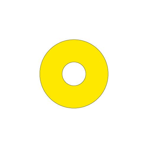 Emergency Stop (65mm Circle W/22.5mm Hole) Label (ES65-22.5B)