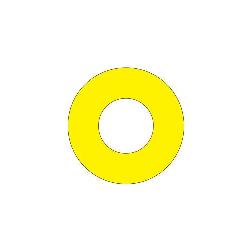 Emergency Stop (65mm Circle W/30.6mm Hole) Label (ES65-30.6B)