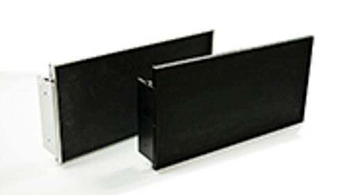 Anodized Black Aluminum Exit Sign Frames (F001-B)