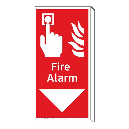 Fire Alarm Sign (F1010F-)