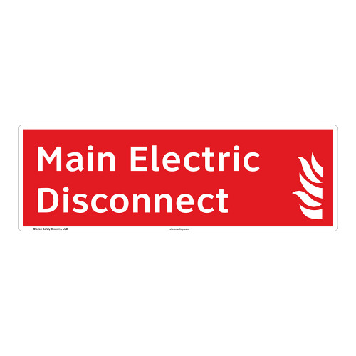 Main Electric Disconnect Sign (F1025-)