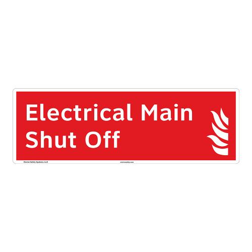 Electrical Main Shut Off Sign (F1026-)