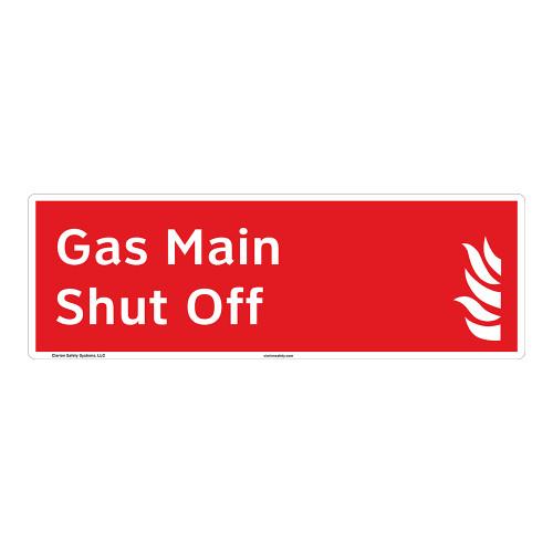 Gas Main Shut Off Sign (F1028-)