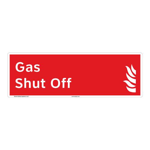 Gas Shut Off Sign (F1029-)