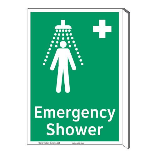 Emergency Shower Sign (F1038F-)