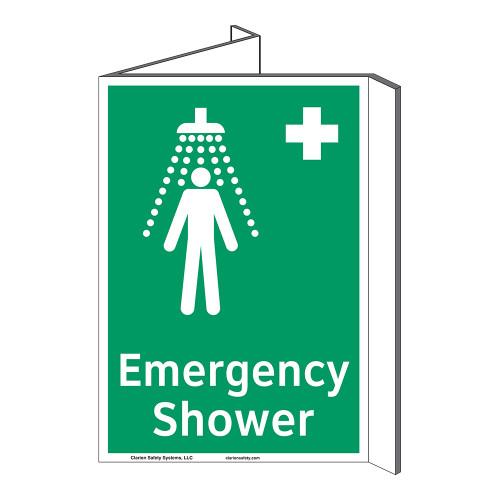 Emergency Shower Sign (F1038P-)
