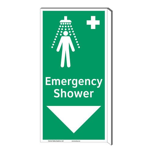Emergency Shower Sign (F1042F-)