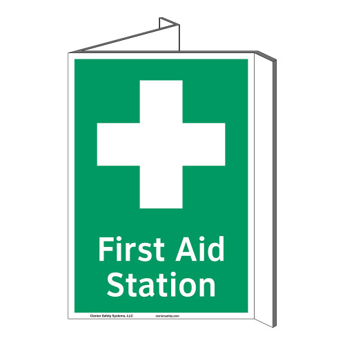 First Aid Station Sign (F1053P-)
