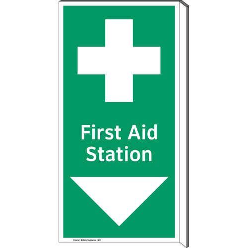 First Aid Station Sign (F1057F-)