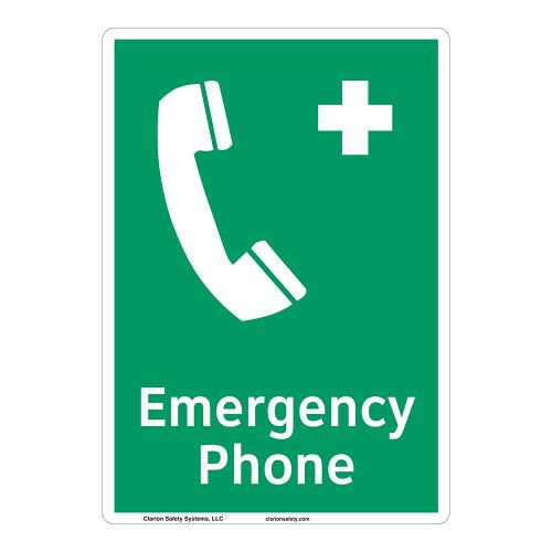 Emergency Phone Sign (F1068-)