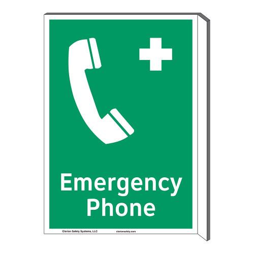 Emergency Phone Sign (F1068F-)