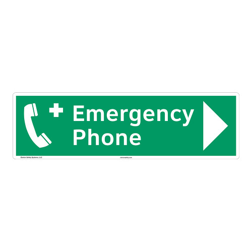 Emergency Phone Sign (F1069-)