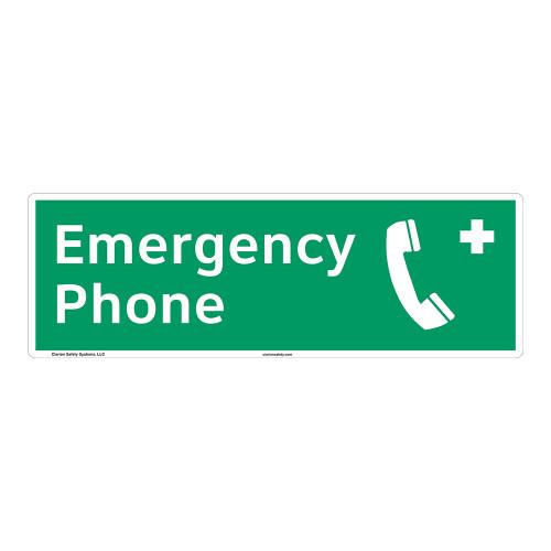 Emergency Phone Sign (F1071)
