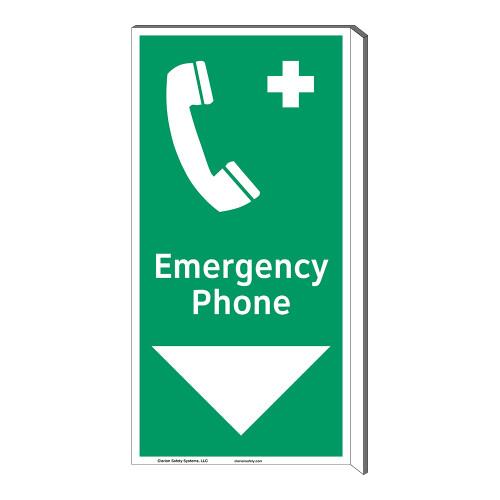 Emergency Phone Sign (F1072F-)