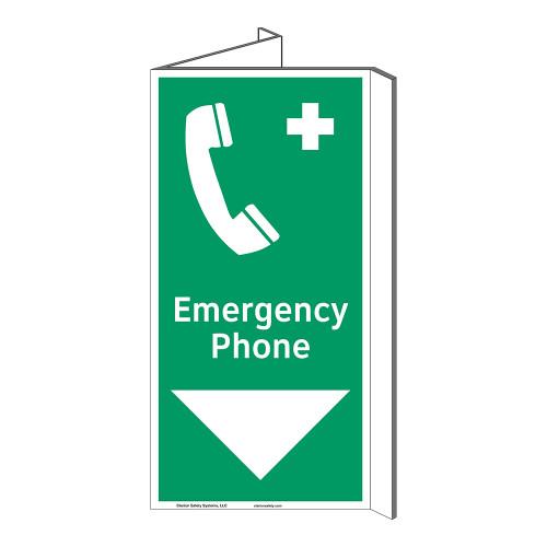 Emergency Phone Sign (F1072P-)