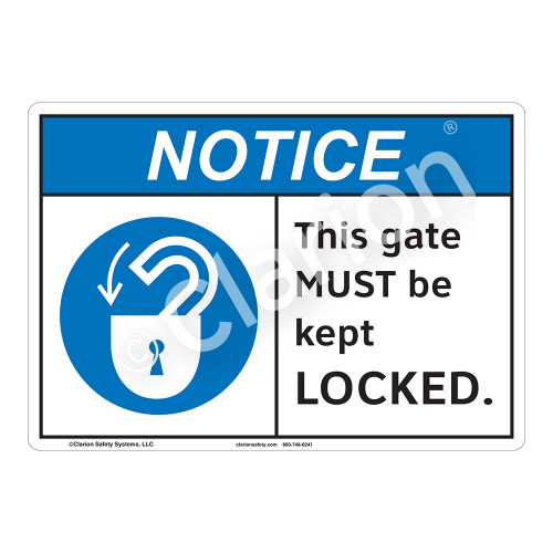 Notice This Gate Sign (F1098-)