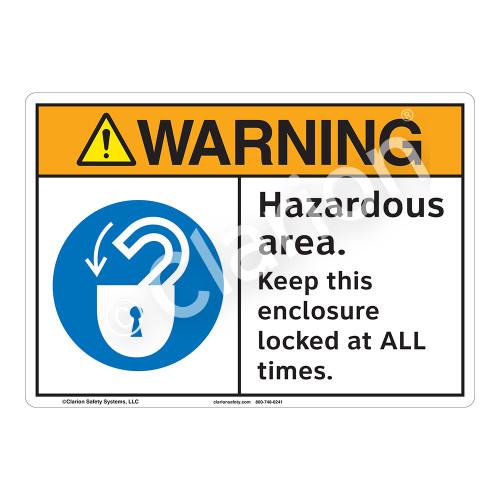 Warning Hazardous Area Sign (F1099-)