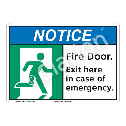 Notice Fire Door Sign (F1101-)