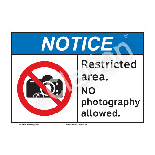 Notice Restricted Area Sign (F1102-)