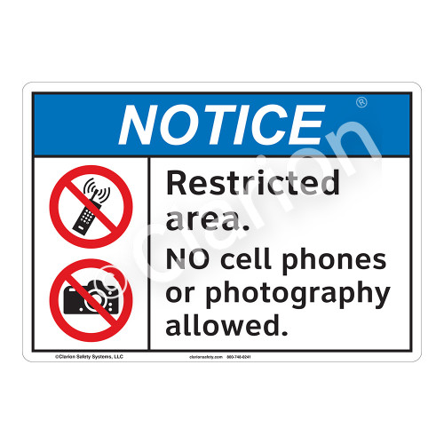 Notice Restricted Area Sign (F1105-)