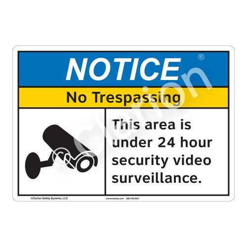 Notice No Trespassing Sign (F1106-)