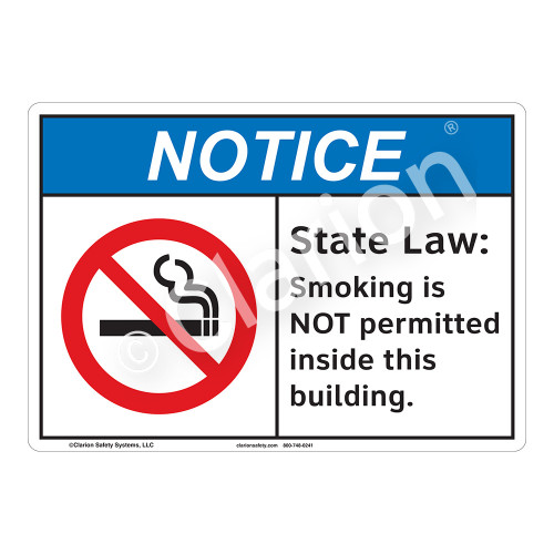 Notice State Law Sign (F1110-)