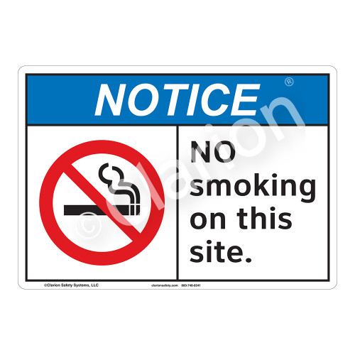 Notice No Smoking Sign (F1111-)