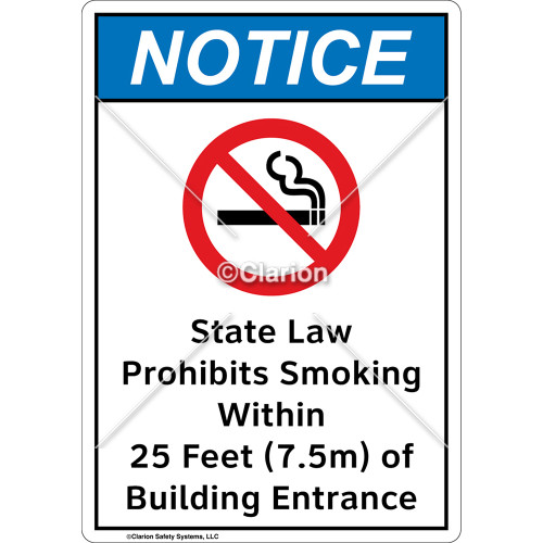 Notice State Law Sign (F1113-)