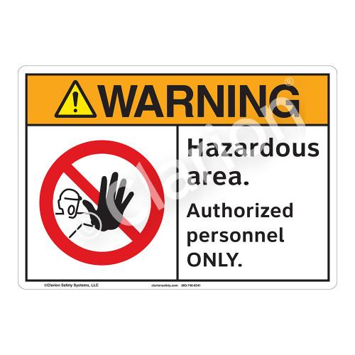 Warning Hazardous Area Sign (F1118-)