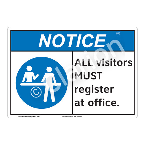 Notice All Visitors Sign (F1120-)