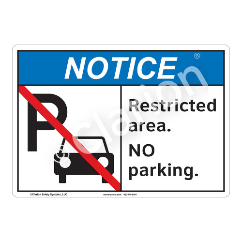 Notice Restricted Area Sign (F1123-)