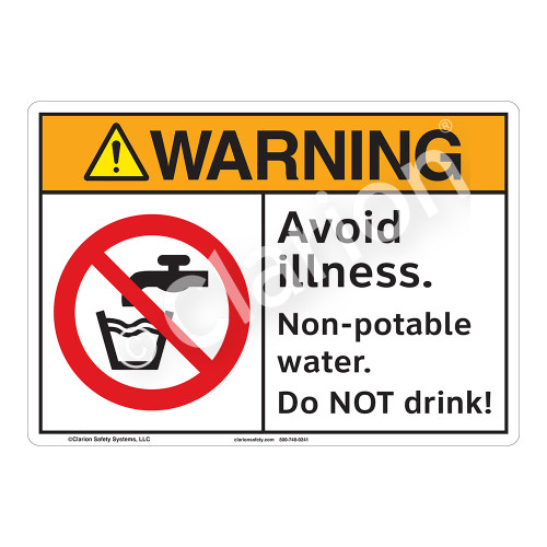 Warning Avoid Illness Sign (F1124-)