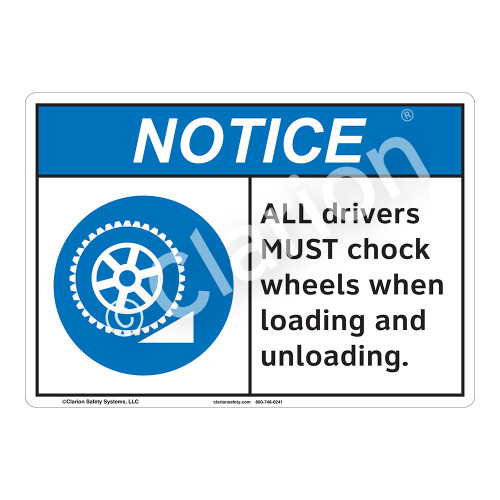 Notice All Drivers Sign (F1135-)