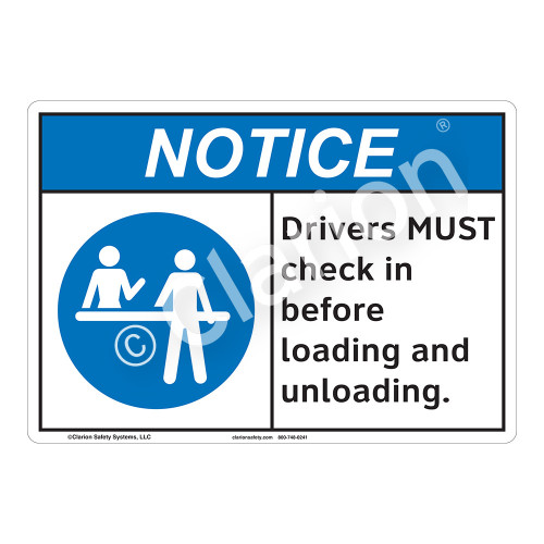 Notice Drivers Sign (F1137-)