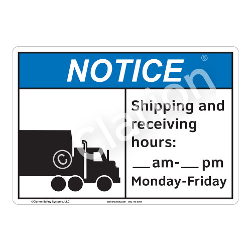 Notice Shipping Sign (F1139-)