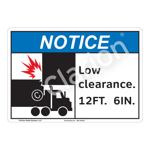 Notice Low Clearance Sign (F1141-)