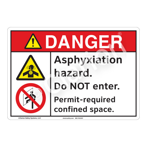 Danger Asphyxiation Sign (F1146-)