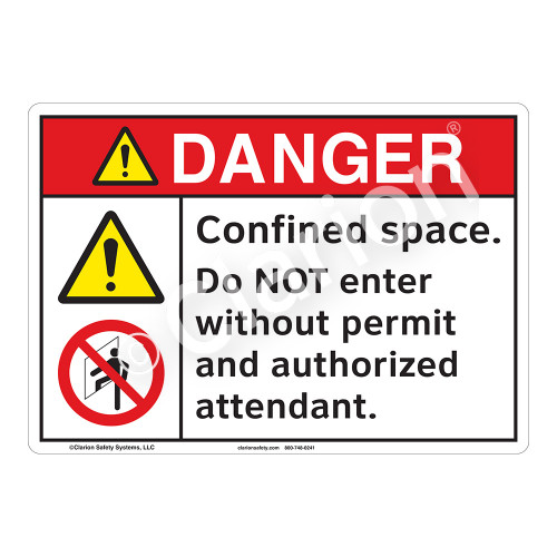 Danger Confined Space Sign (F1147-)