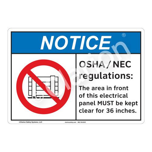 Notice OSHA/NEC Sign (F1152-)