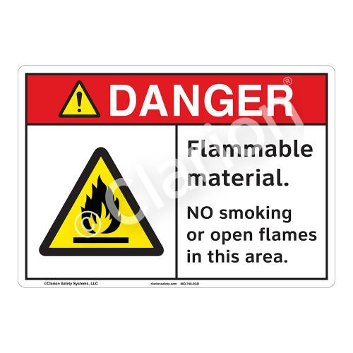 Danger Flammable Sign (F1153-)