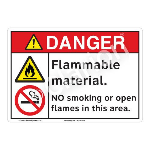 Danger Flammable Sign (F1154-)
